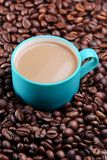 Xícara de café verde foto de stock royalty free