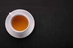 Xícara de chá aérea com copyspace imagem de stock