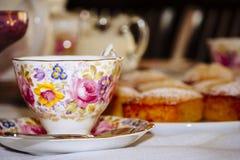 Xícara de chá e pires do vintage Foto de Stock Royalty Free