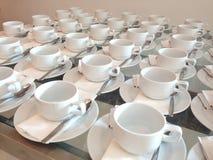 Xícaras de café brancas Fotos de Stock