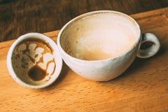 Xícaras de café vazias Fotos de Stock Royalty Free