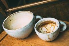Xícaras de café vazias Imagens de Stock Royalty Free