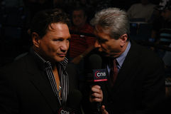 5X世界冠军拳击手Vinny帕兹 免版税库存图片