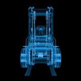 x光芒叉架起货车 向量例证