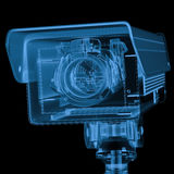 x光芒安全监控相机或cctv照相机 库存图片