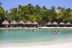 X八字公园在海滨del卡门,墨西哥 库存照片