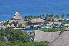 X八字公园在海滨del卡门,墨西哥 免版税库存图片