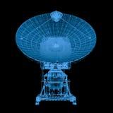 x在黑色隔绝的光芒卫星 皇族释放例证
