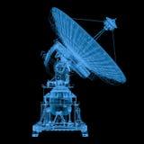 x在黑色隔绝的光芒卫星 库存例证
