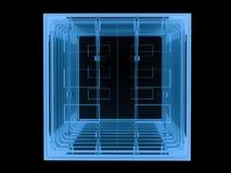 x在黑色隔绝的光芒容器 向量例证
