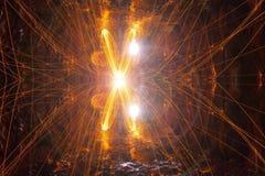 X étincelles photo libre de droits
