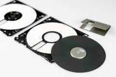 3 5 & x22; дискет Сломленная несущая данных к старым компьютерам на isolat Стоковое Фото
