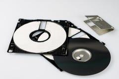 3 5 & x22; дискет Сломленная несущая данных к старым компьютерам на isolat Стоковое Изображение
