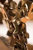X и O металла аранжированные на магнитном основании Стоковая Фотография RF