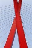 x以一座缆绳被停留的桥梁的形式 免版税图库摄影