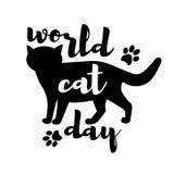 & x22; 世界猫day& x22; 免版税库存图片