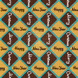 & x27; 圣诞快乐&愉快的新的Year& x27;cookies& x27;样式 库存照片
