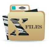 X-文件文件夹象 免版税库存照片