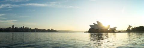 12x36英寸悉尼歌剧院全景 库存照片