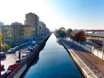 & x22;Alzaia Naviglio Grande & x22;. Milan Royalty Free Stock Image