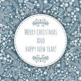 & x22; Ano novo feliz e Feliz Natal Cartão de Natal, bandeira do ano novo Fundo sem emenda do Natal Fotos de Stock