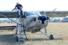 X328 atlanta anioła turbina szczególnie wyposażał samolot dla nieba div Obrazy Royalty Free