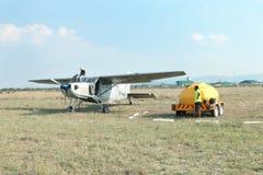 X328 atlanta anioła turbina szczególnie wyposażał samolot dla nieba Skydiving Zdjęcia Royalty Free