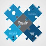 7x7 avslutat enkelt designillustrationpussel Royaltyfri Bild