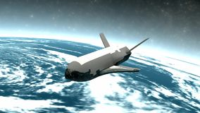 X-37B Unmanned spacecraft, secret, mission, USA, program. X-37B Unmanned spacecraft, secret, mission, USA, program, Computer generated stock video