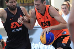 3x3 basket - Antonin Pavlov Royaltyfri Fotografi