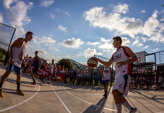 3x3 basketbalgelijke Royalty-vrije Stock Afbeelding