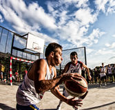 3x3 Basketballspiel Stockfoto