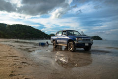 4x4 on the beach Royalty Free Stock Images