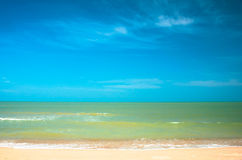 X on the beach and tropical sea Royalty Free Stock Photography