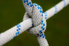 X bend. X cross bend on rope-ladder Royalty Free Stock Image