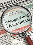 We& x27; beträffande hyra Hedge Fund revisor 3d royaltyfria foton