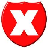 X blindaje Imágenes de archivo libres de regalías