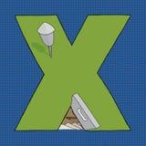 X Bomb Shelter Stock Image