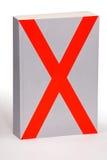 X Buch - Beschneidungspfad Lizenzfreies Stockbild