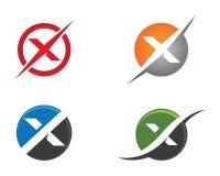 X calibre professionnel de logo de finances d'affaires de lettre Images libres de droits