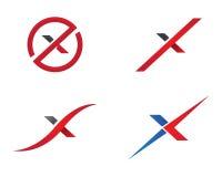 X calibre professionnel de logo de finances d'affaires de lettre Image libre de droits