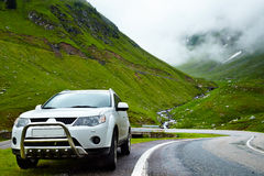 4x4 car in the mountain Royalty Free Stock Photo