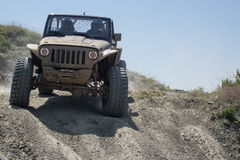 4x4 car in offroad race Stock Photos