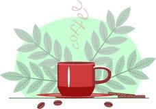 X?cara de caf? Ilustração do vetor com copo de café ilustração royalty free