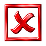 X Checked Box Stock Photo