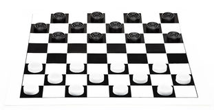 8x8 checkers board isolated on white background Royalty Free Stock Photos