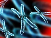 X chromosome on abstract background Stock Photos