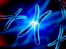 X chromosome on blue background Royalty Free Stock Image