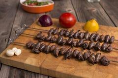 & x22; Churrasco de curacao& x22; 传统巴西烤肉食物 库存照片