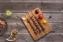 & x22; Churrasco de curacao& x22; 传统巴西烤肉食物 免版税图库摄影